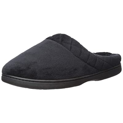 Dearfoams Women's Darcy Microfiber Velour Clog with Quilted Cuff Slipper | Slippers