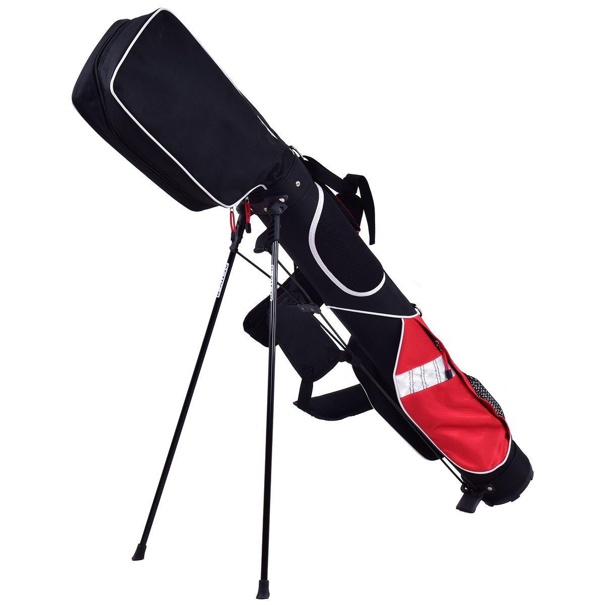 Custpromo 5'' Sunday Golf Bag Stand Lightweight 7 Clubs Carry Pockets Golf Standing Bags