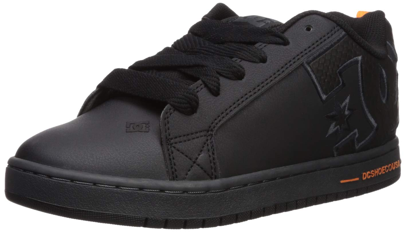DC Men's Court Graffik SE Skate Shoe, black/battleship/black, 6 D M US