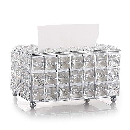 TAO-Servilleteros de Cristal Europeo Caja de Almacenamiento ...