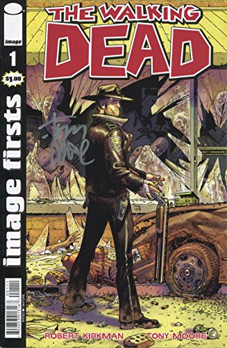 Tony Moore Signed / Autographed Walking Dead #1 comic. Includes Fanexpo Certificate of Authenticity and Proof. Entertainment Autograph Original from Star League Sports