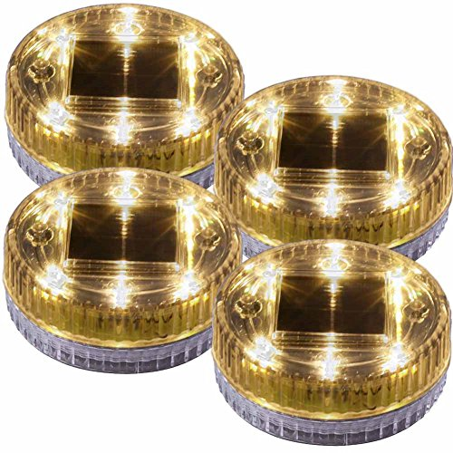 Water Fountain Light Solar Powered Under Water Pool Pond Decor Lights 4 PACK Warm Lighting by POPPAP