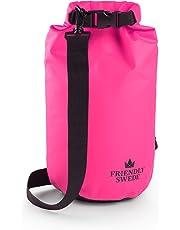 The Friendly Swede Dry Bag 2L / 5L / 10L / 20L - Packsack wasserdicht einzeln oder 2er Set für Outdoor, Sport, Reise - Trockentaschen, Packsäcke, Seesäcke mit Schultergurt