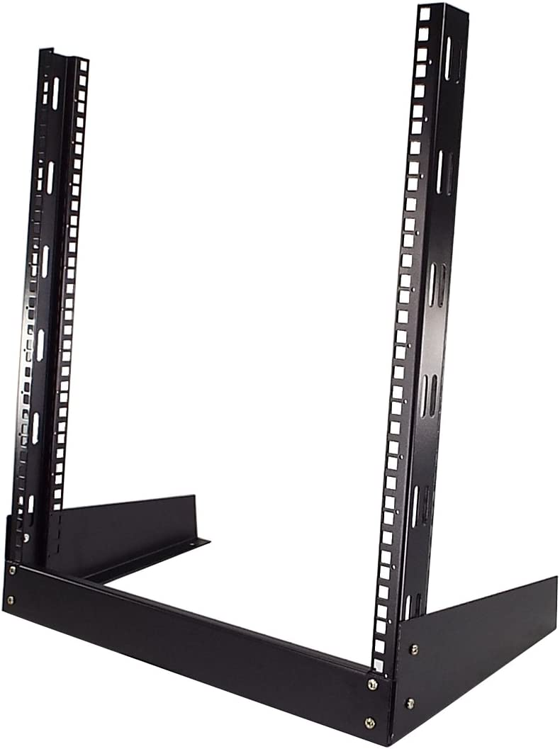 "CNAweb 12U Open Frame 19"" Inch Desktop 2 Post Network Rack Stand"