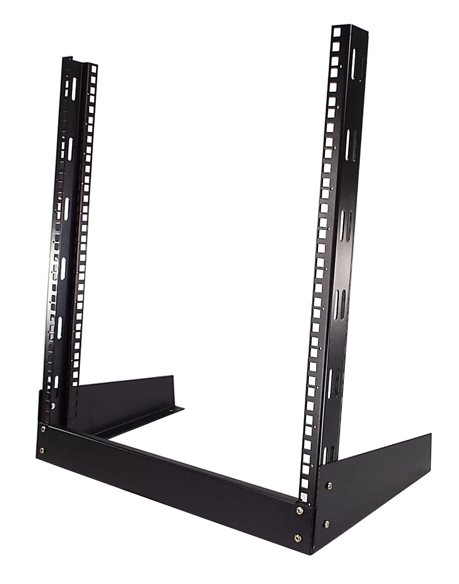 CNAweb 12U Open Frame 19'' Inch Desktop 2 Post Network Rack Stand