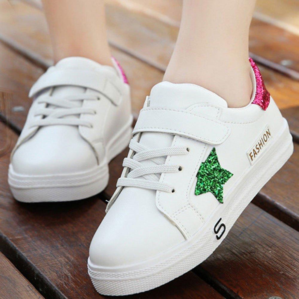 KUKICAT Basket Enfant Chaussures /à Coutures Etoiles Pentagra Chaussure de Outdoor Sport Running Soldes Confortable Mode Casual Sneakers