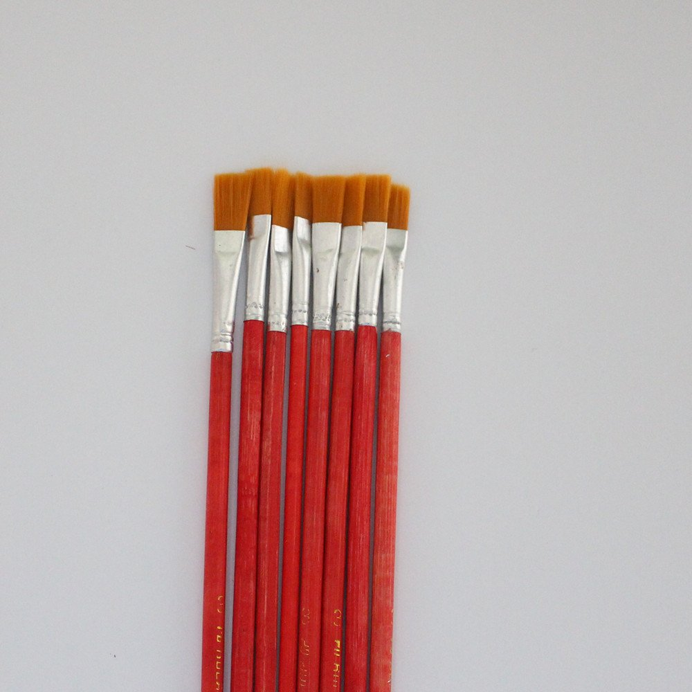 10 pcs NO.3 red Wool Brush,sweep gold leaves,Good quality wool brush,soft, a good tool for gilding leaves, YongBo