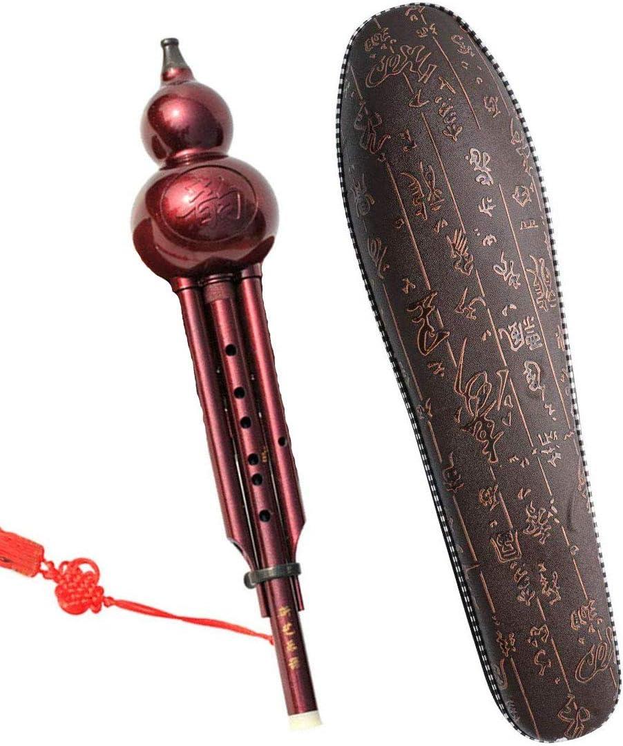 KLJKUJ Chinese Traditional Hulusi Gourd Cucurbit Flute C//Bb Professional Ethnic Musical Instrument C Key