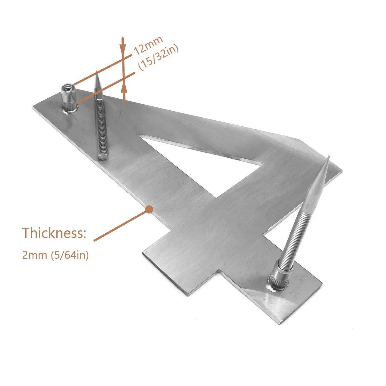 f/ácil de instalar y de acero inoxidable 304 s/ólido 20 cent/ímetros N/úmero de casa apariencia flotante letra b acero inoxidable