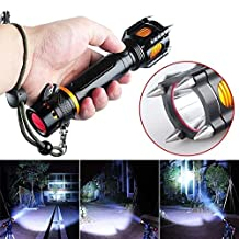 2015 Super Bright 3000lm Cree Xm-l T6 Led Flashlight Cutting Rope Audible Alarm Attack Security Torch safety hammer flashlight torch Only