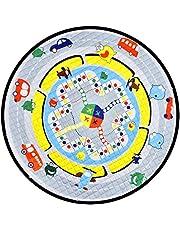 Tyhbelle Kinder Aufräumsack Baby Krabbeldecke Matt für Kinderzimmer Kinderteppich Cartoon Spielmatte Spieldecke mit Aufbewahrungsbeutel, Durchmesser.150cm
