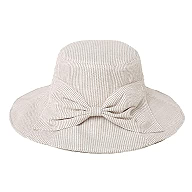 da391dd0f Cotton Sun Hats for Women Linen Beige Casual Summer Beach Hats ...