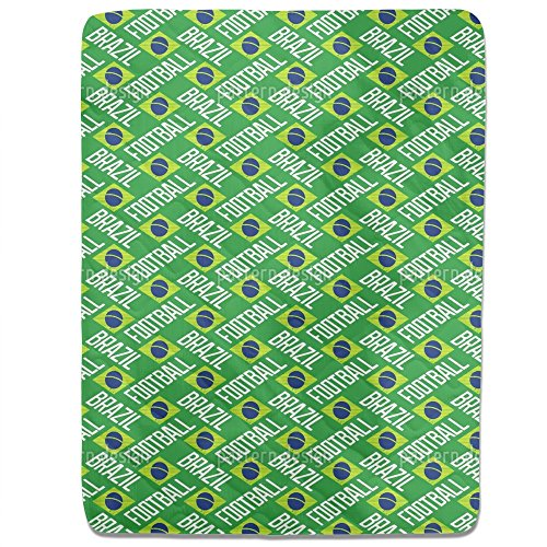 Brazilian Football Fitted Sheet: King Luxury Microfiber, Soft, Breathable by uneekee