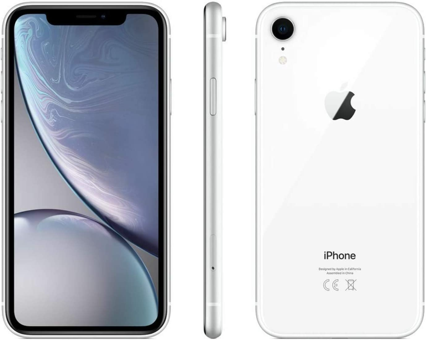 Apple iPhone XR, 64GB, White - Fully Unlocked (Renewed)