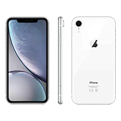 Apple iPhone XR, 64GB, White , Fully Unlocked (Renewed)