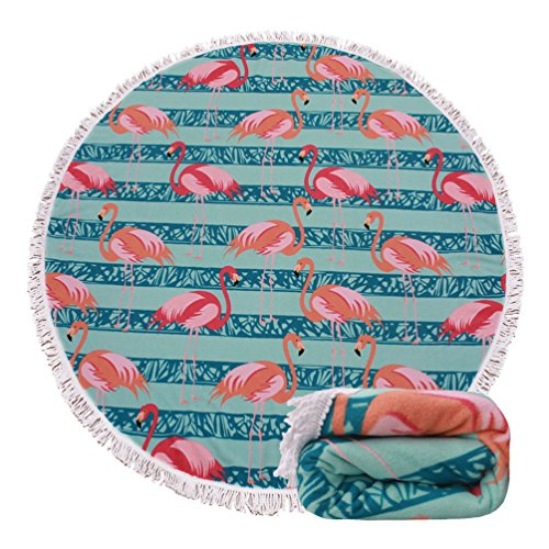 Genovega (23 Options Thick Round Beach Towel Blanket - Cute