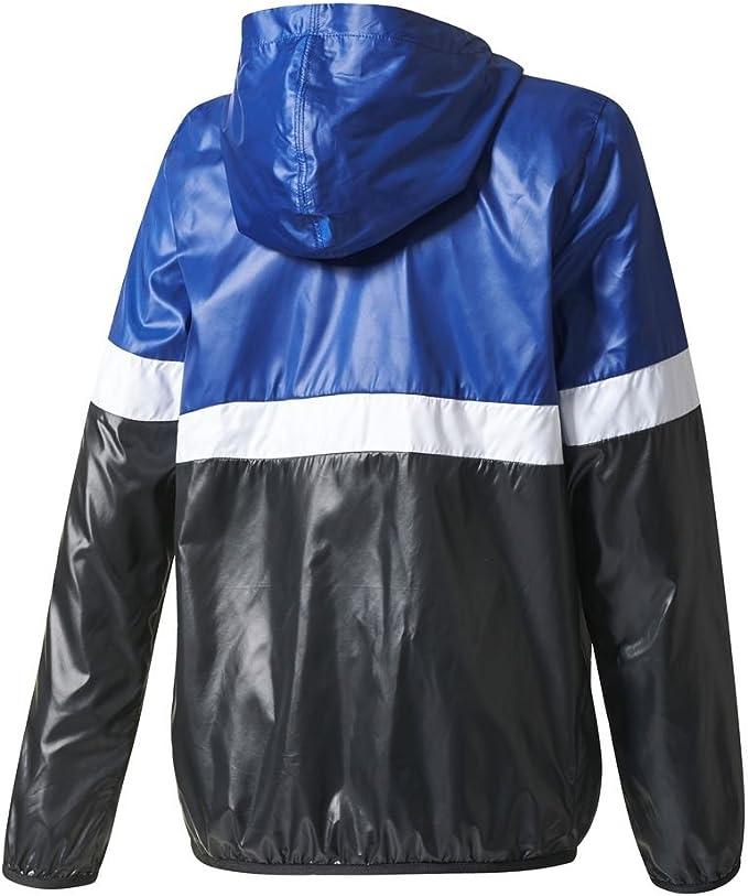 adidas Veste Coupe Vent J TRF FL WB BleuBlancNoir Taille