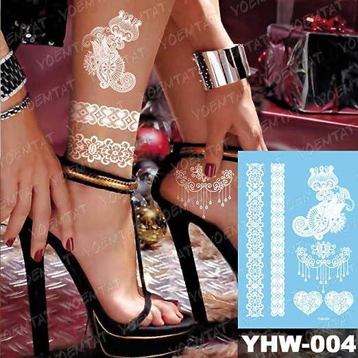 adgkitb 3 Piezas Temporal Tatuaje Impermeable Pegatina para Mujer ...