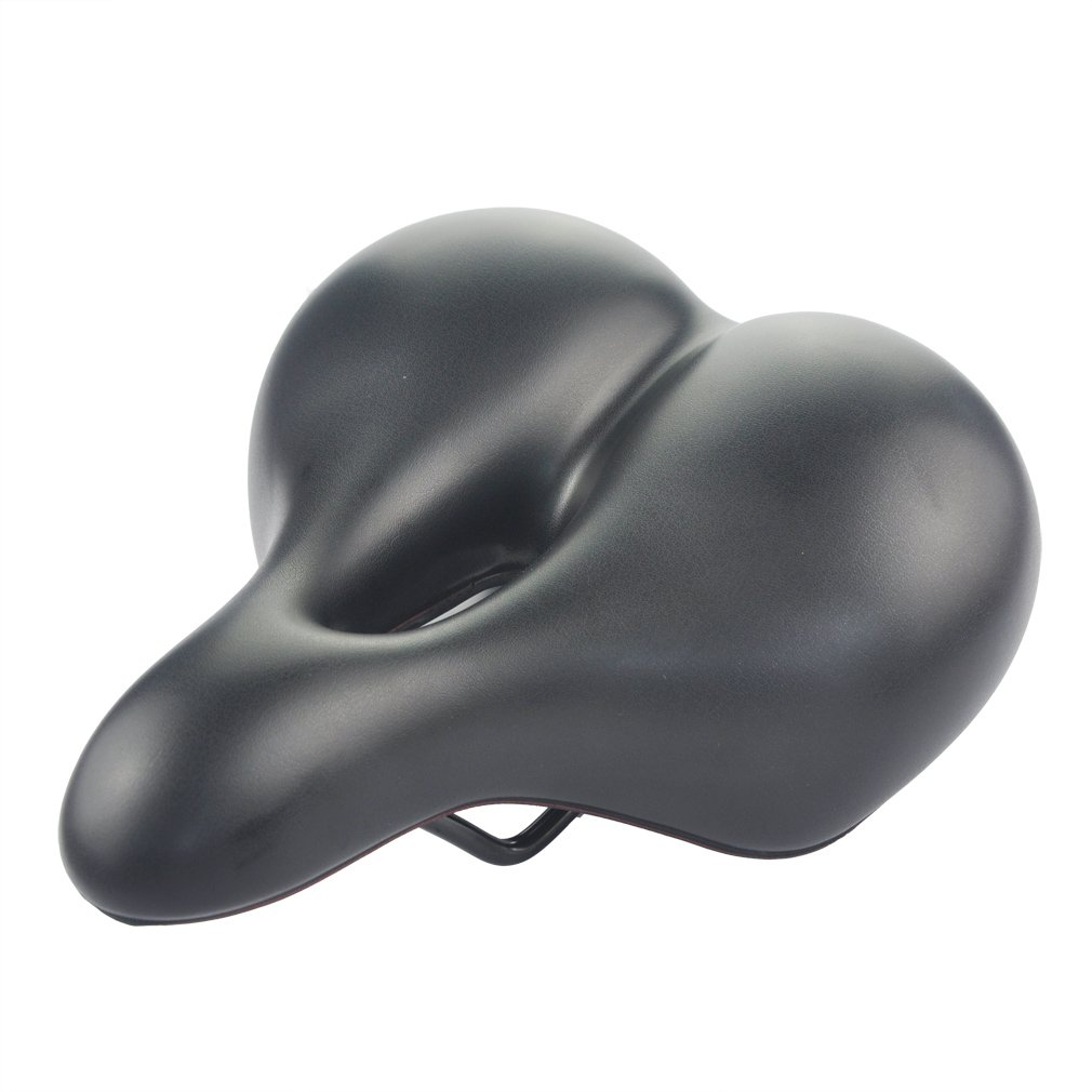 UPANBIKE Bike Saddle Widened Thicken Middle Hollow Double Spring Suspension Comfortable Soft Bicycle Seat Cushion
