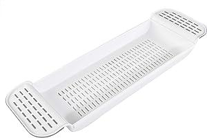"Home-X Expandable Bath Shelf, Adjustable Plastic Bathtub Caddy, Luxury Bathroom Tray 21 – 30"""