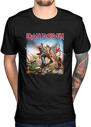 Camiseta oficial Iron Maiden Trooper Rock Metal Hermit Vortex Transilvania