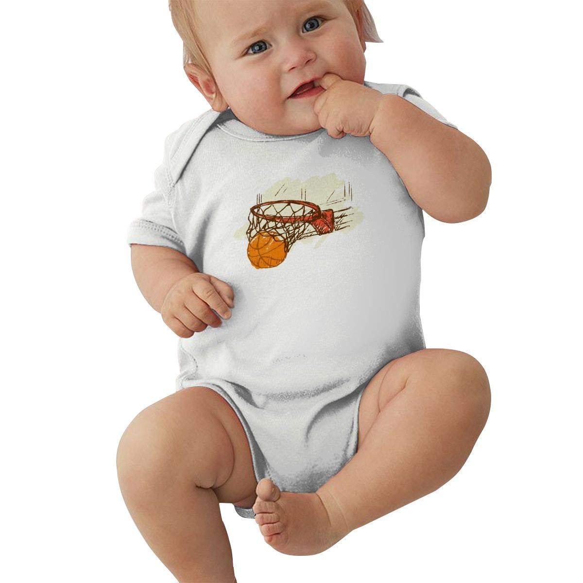 Body para bebé Puesto en Baloncesto Mono para niños pequeños de ...