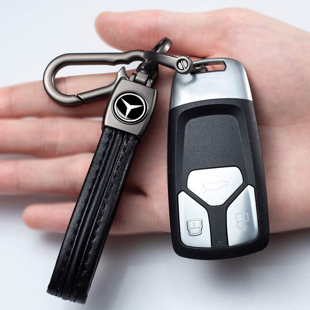 Car Key Fob Keychain Hook Leather Lanyard Pendant Logo of Dodge Challenger Charger Durango Grand Caravan Journey RAM 1500 Classic 2500 3500 ProMaster 1500 2500 3500 City