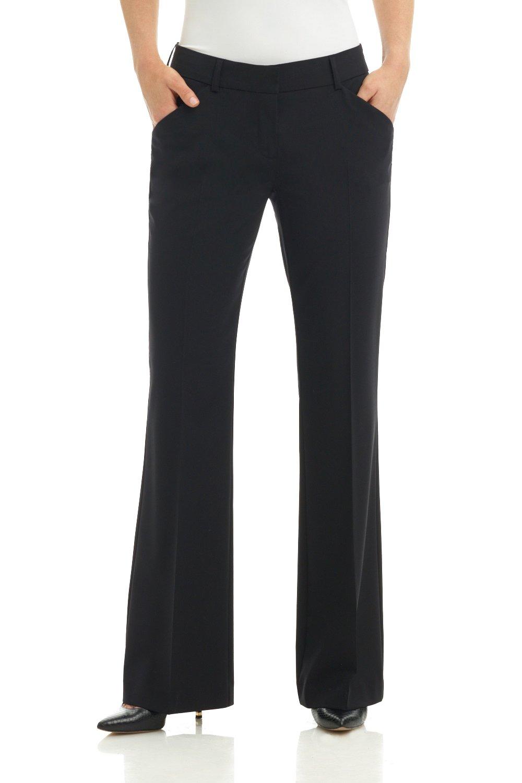 Rekucci Collection Women's Slant Pocket Flare Leg Dress Pant (6,Black)