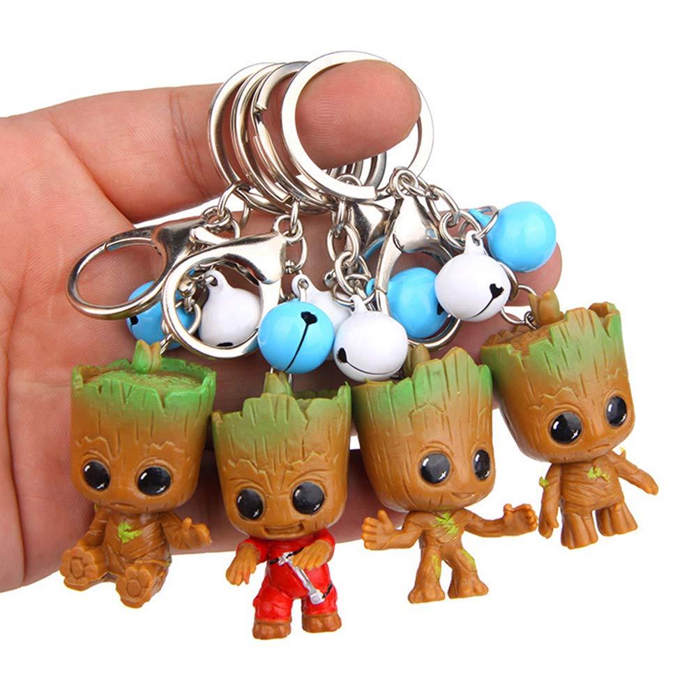 MAJGLGE - 4 llaveros con Forma de Campana de árbol galáctico: Amazon.es: Productos para mascotas