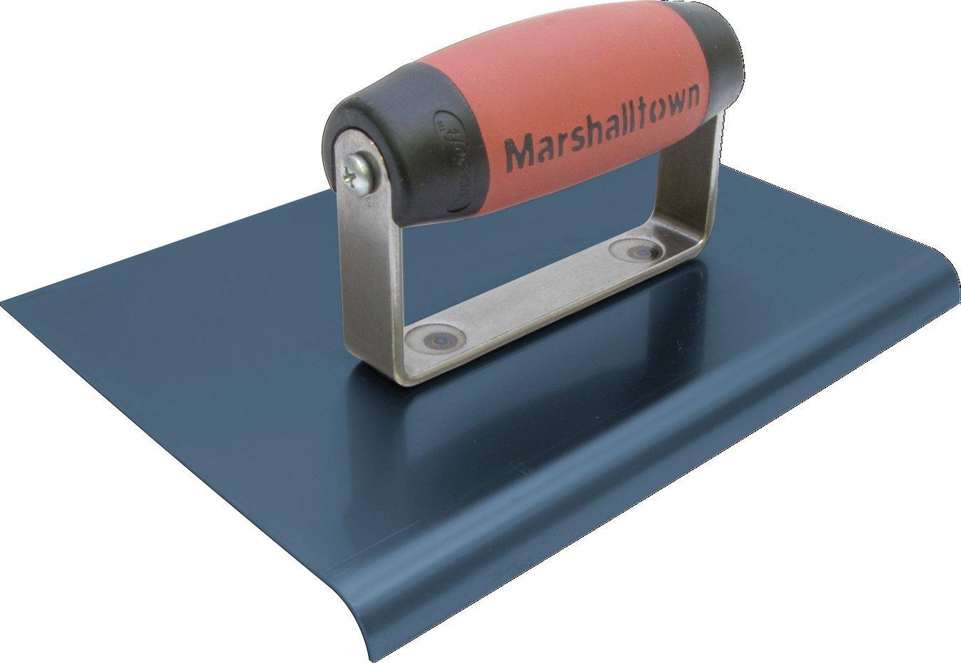 MARSHALLTOWN 167BD 9-Inch by 6-Inch The Premier Line Blue Steel Edger-3/4-Inch Radius 7/8-Inch Lip DuraSoft Handle