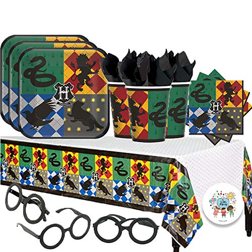 Harry Potter Party Pack for 16 with Plates, Napkins, Cups, Tablecover, and Harry Potter ()