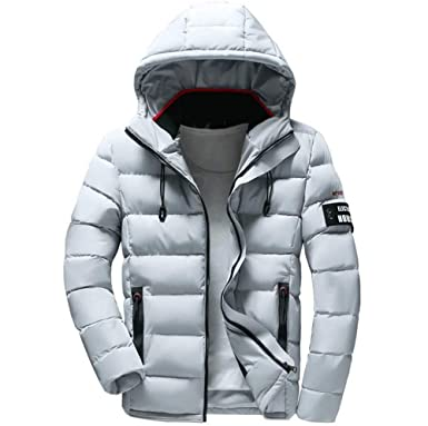 0ad0d3b1b Clearance Forthery Men's Down Jacket Puffer Coat Thicken Packable Warm  Winter with Hood