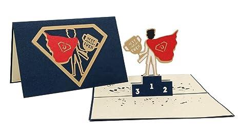Amazon.com: isharecards Pop Up agradecimiento, tarjeta de ...