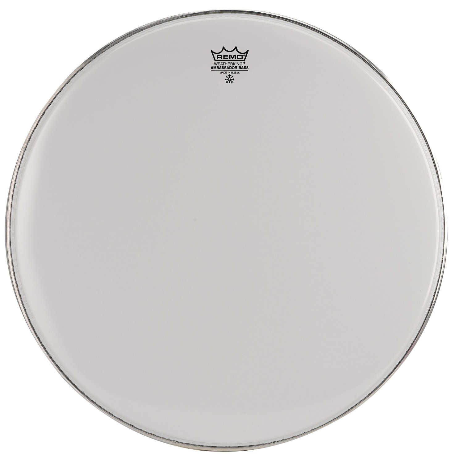 Remo BR1228-MP Smooth White Ambassador Marching Bass Drum Head - 28-Inch BR1228MP