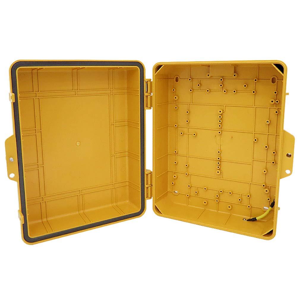 Altelix Yellow Pole Mount NEMA Enclosure (12'' x 8'' x 4'' Inside Space) Polycarbonate + ABS Weatherproof Outdoor High Visibility NEMA Box by Altelix (Image #5)