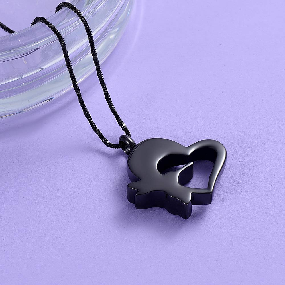 Yinplsmemory Cremation Jewelry Hummingbird Urn Necklace for Ashes Stainless Steel Heart Cremation Lockets for Ashes Holder
