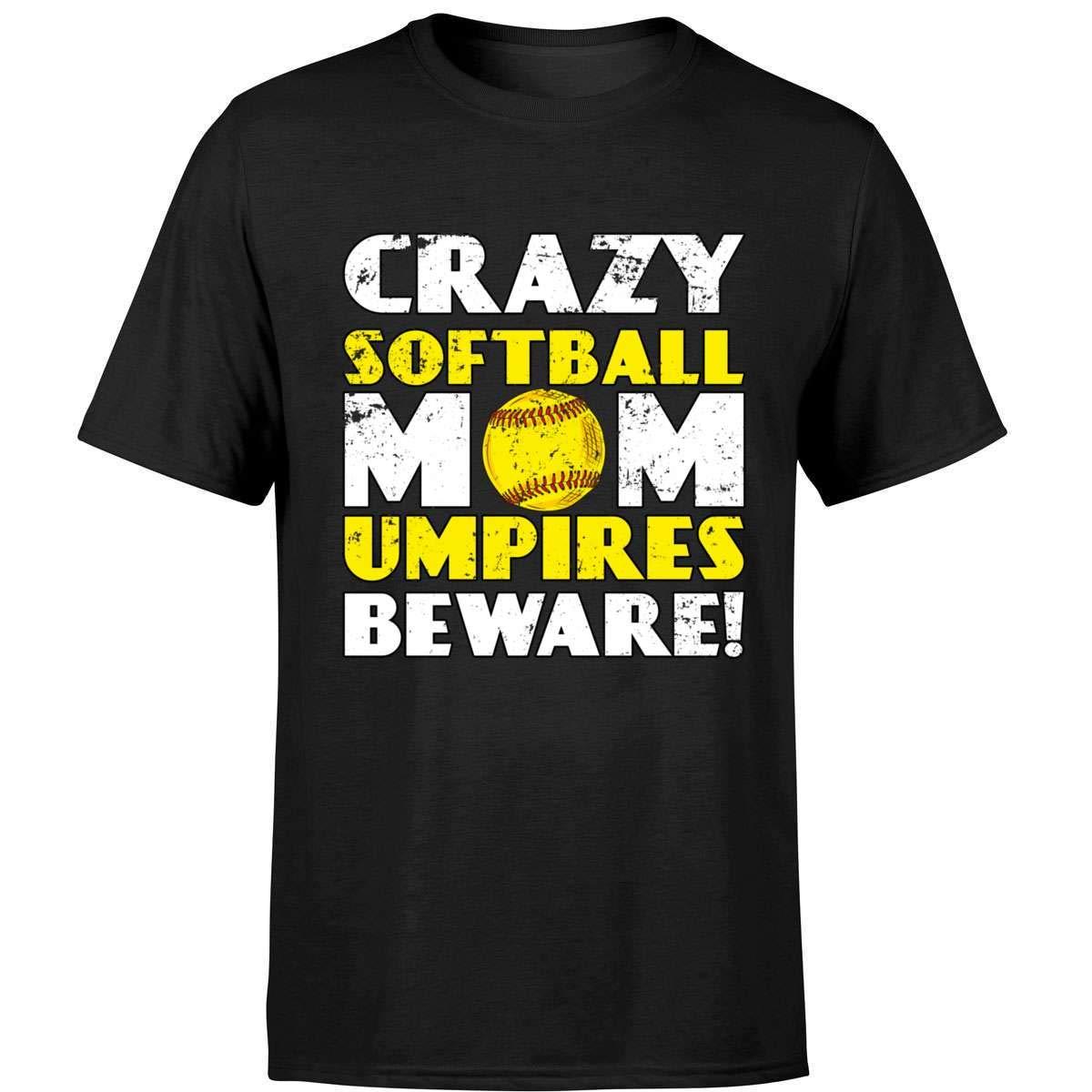 Funny Softball Cute Crazy Mom Shirts