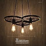 Best Airwheels - Industrial Pendant Light Iron chandeliers, industrial air-Wheel head,6161cm Review