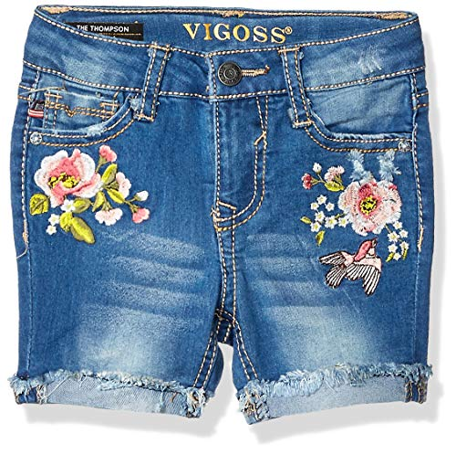 VIGOSS Girls' Toddler Bermuda Short, Flower Show Antique wash, 3T