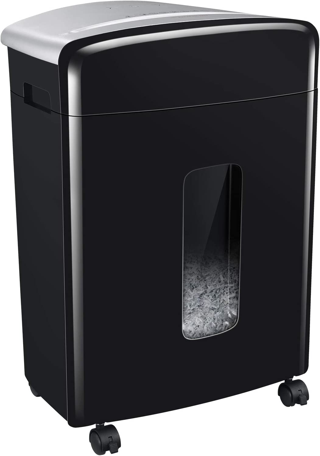 Bonsaii 16-Sheet Micro-Cut Paper and Credit Card Shredder, 20 Minutes Running Time, 60 dB Low Operation Noise, 6.6 Gallons Basket and 4 Casters (C222-B)