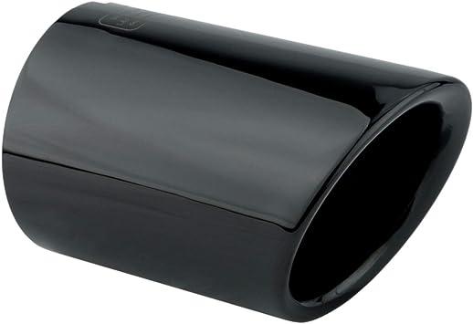 L P A285 1 Auspuffblende Endrohrblende Schwarz Chrom Edelstahl Poliert Plug Play Endrohrblenden Auspuffblenden Auspuff Blende Für 65mm Endrohre Auto