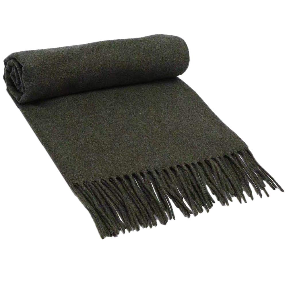 30 Scarf, Pure Wool Scarf Textile, Solid color Warm Pure Cashmere Scarf Men and Women Shawl 200CM