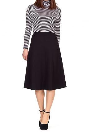 Dani's Choice Everyday High Waist A-line Flared Skater Midi Skirt ...
