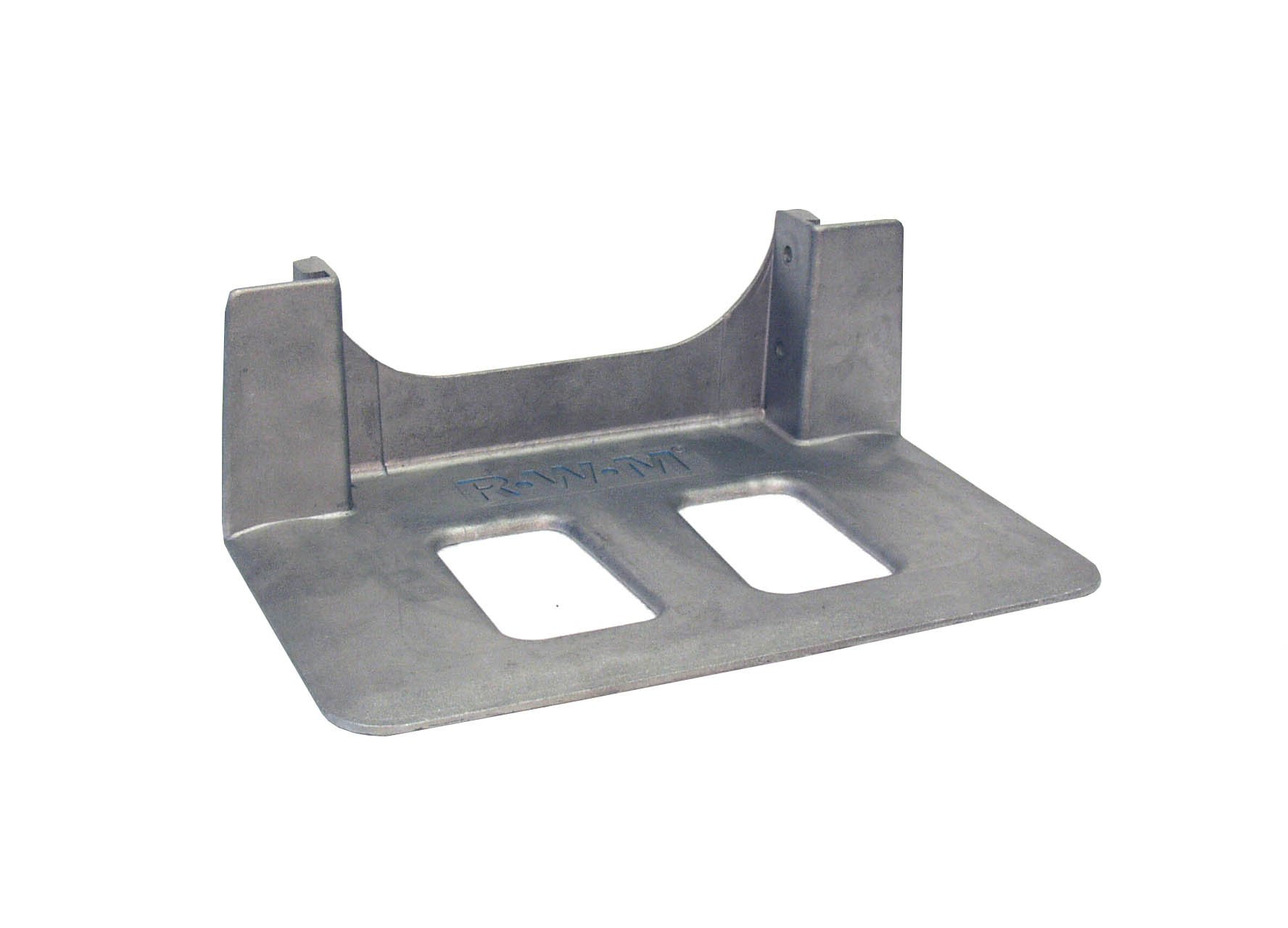 RWM Casters Small Cast Aluminum Hand Truck Nose Plate with Recessed Heel, 14'' Plate Length, 7-1/2'' Plate Width