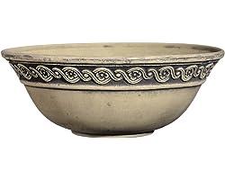 "Classic Home and Garden Corinthian Bowl 12"" Planter, Ivory Ash"