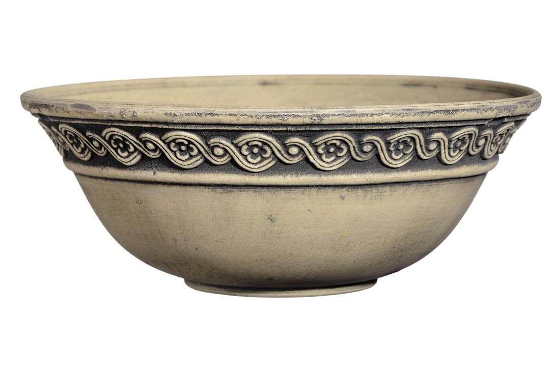 GARDENGOODZ Corinthian Bowl 12'' Ivory Ash Corinthian Succulent Bowl, Ivory Ash