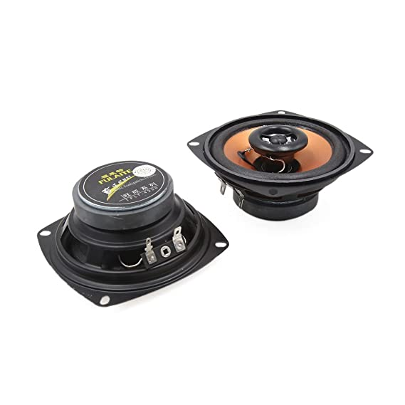 Amazon.com: eDealMax Par 5 pulgadas de diámetro estéreo 100W 2-Way Car Audio Altavoces coaxiales Sistema Negro: Car Electronics