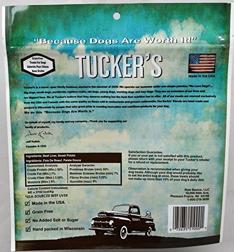 Image of Tuckers Barkin Blends Beef Liver and Sweet Potato Freeze Dried Treats 2.5 Ounces
