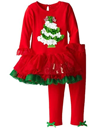 baby girls christmas tree long sleeve shirt pants skirt suit 2pcs outfits set size 90