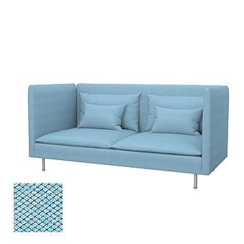 Beau Soferia Housse Supplémentaire IKEA SODERHAMN Canapé 3 Places + Dossier  Haut, Tissu Nordic Blue